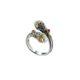 Ιδιαίτερο χειροποίητο δαχτυλίδι Gerochristos στολισμένο με μαργαριτάρια γλυκού νερού και ρουμπίνια