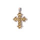 Χειροποίητος Βυζαντινός σταυρός Gerochristos με χρυσά φιλιγκράν σχέδια